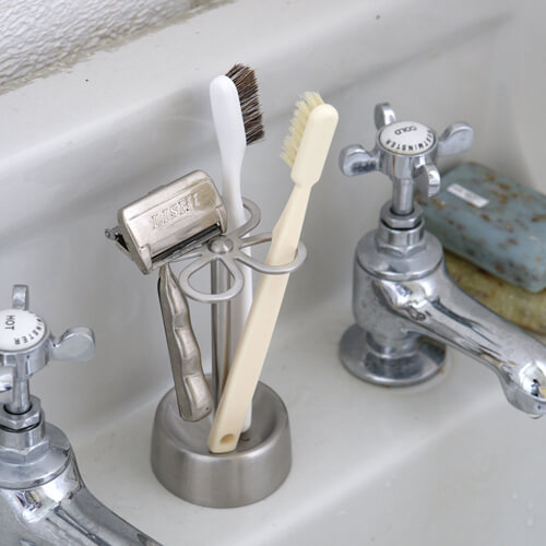 4-HOLES TOOTHBRUSH HOLDER (SATIN)