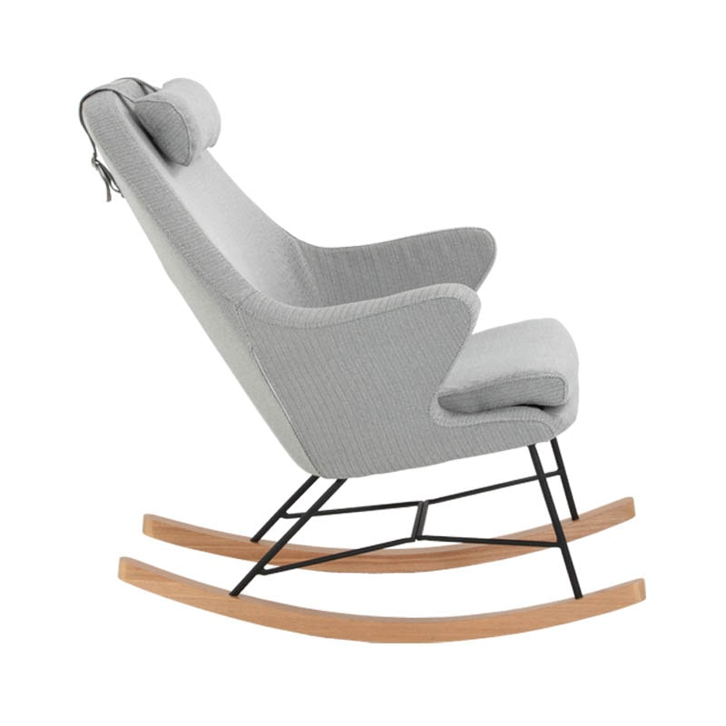ROCKING CHAIR HERRINGBONE BLACK""