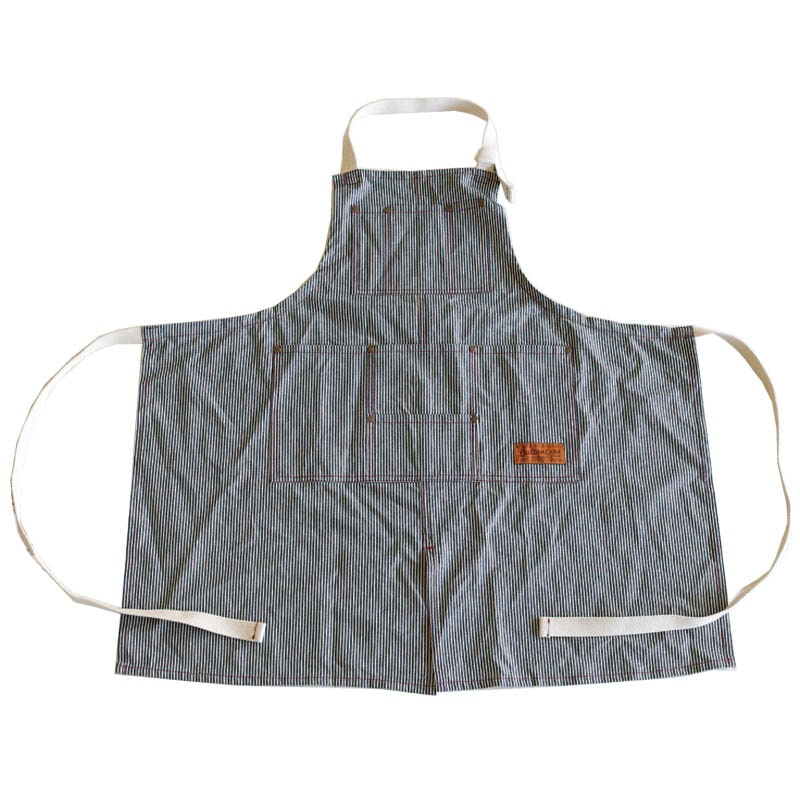 'MW'' WORK APRON HICKORY STRIPE