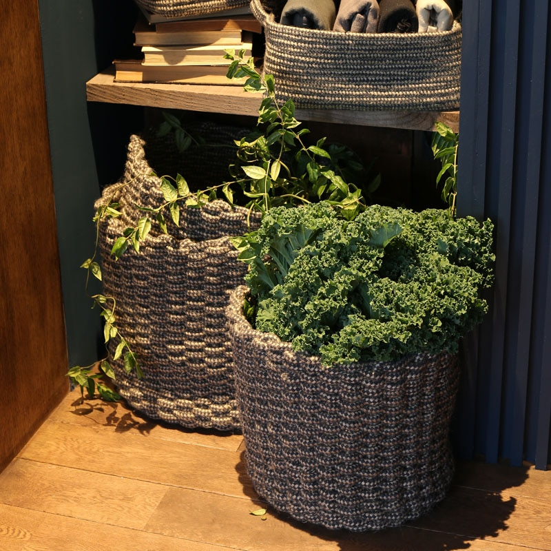 MIXED ROPE BASKET L