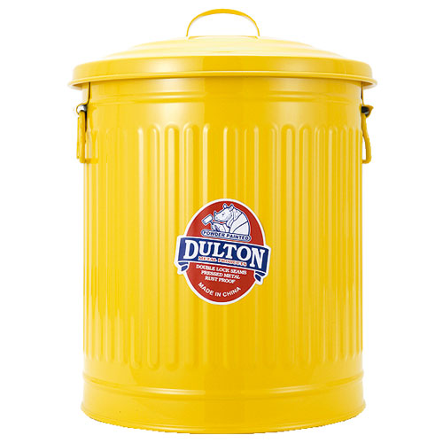 GARBAGE CAN YELLOW-L