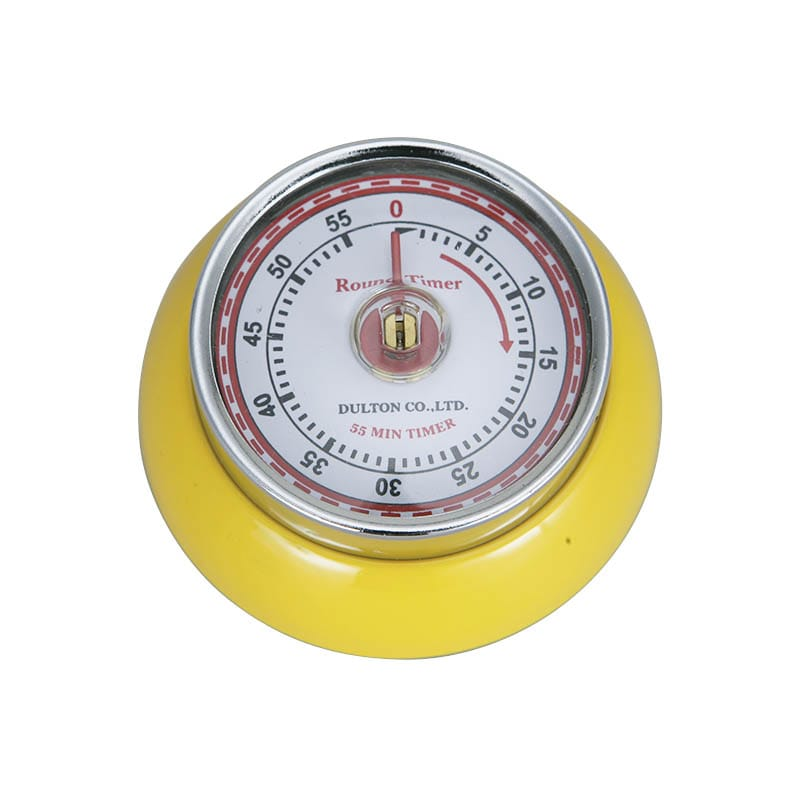 KITCHEN TIMER YELLOW WITH MAGNET
