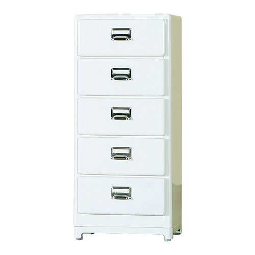 5 DRAWERS CHEST IVORY