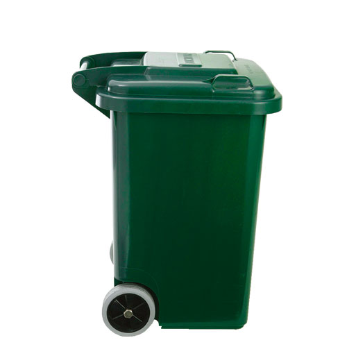 PLASTIC TRASH CAN 45L GREEN