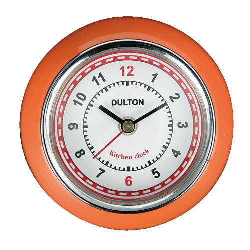 KITCHEN CLOCK ORANGE