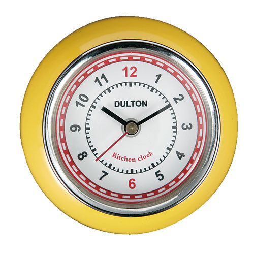 RoomClip商品情報 - KITCHEN CLOCK YELLOW