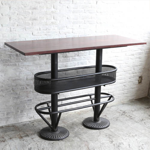 RoomClip商品情報 - WOODEN AND IRON PUB TABLE