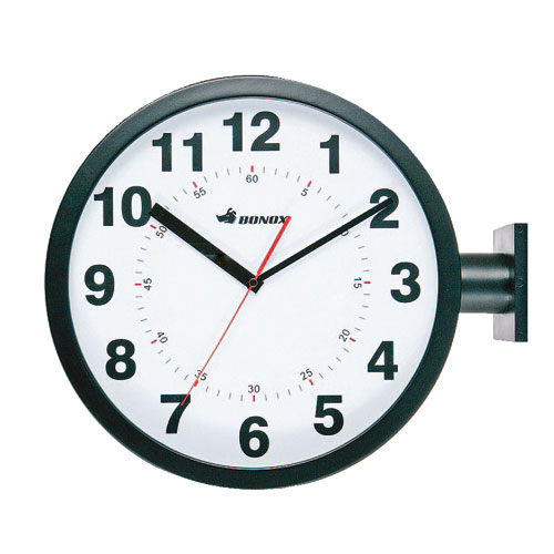 D.FACE WALL CLOCK BLACK