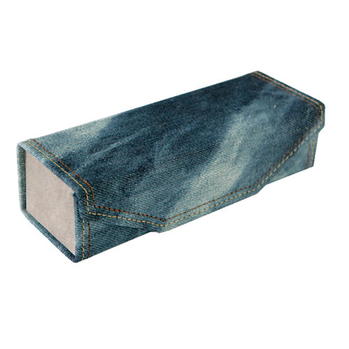 DENIM GLASSES CASE  DARK BLUE