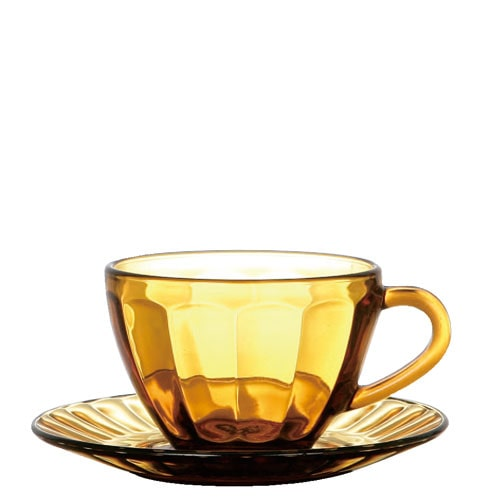 RoomClip商品情報 - GLASS CUP & SAUCER  AMBER