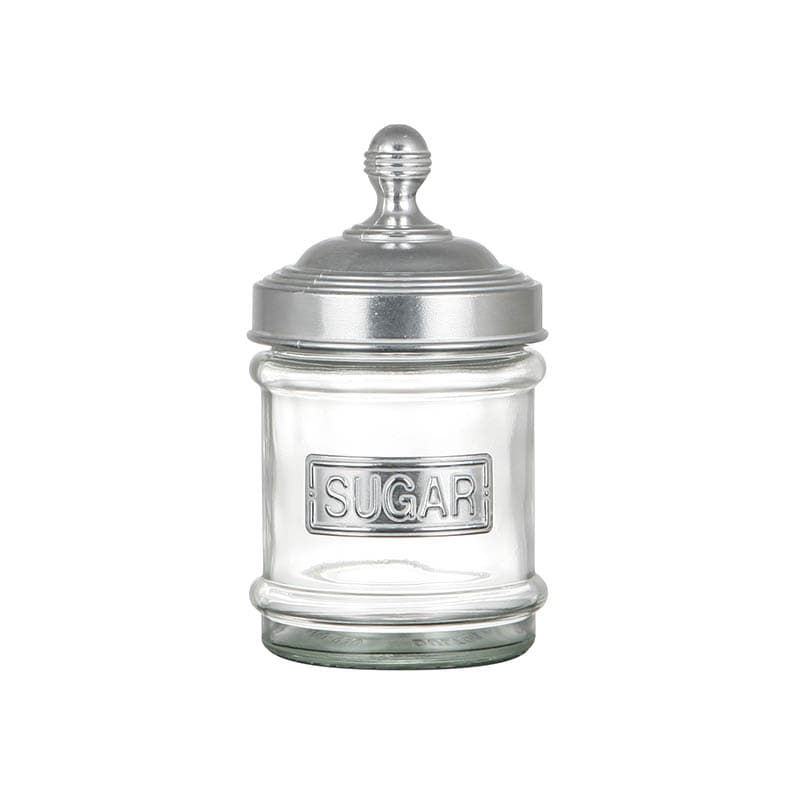 GLASS CANISTER SUGAR