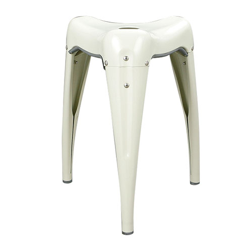STACKING STOOL ''WISDOM TOOTH'' IVORY