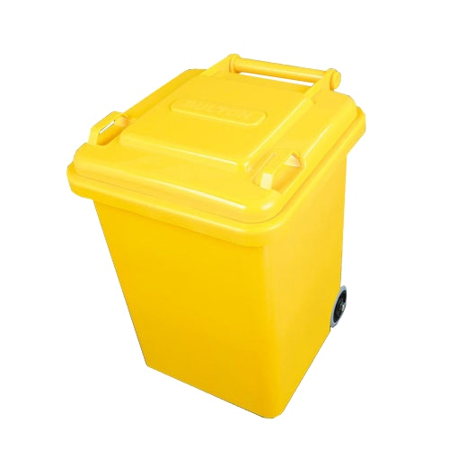 PLASTIC TRASH CAN 18L YELLOW
