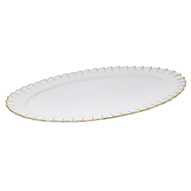 OVAL PLATE ''PLEATS DECOR'' M
