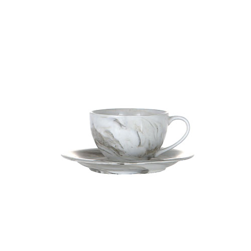 EBLE COLLECTION CUP & SAUCER MOCHA