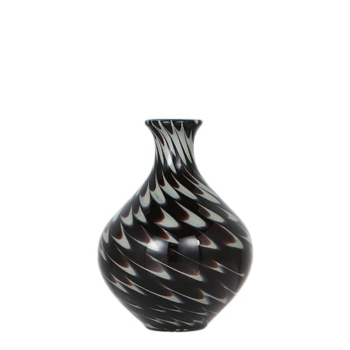 GLASS VASE PAVO S BLACK