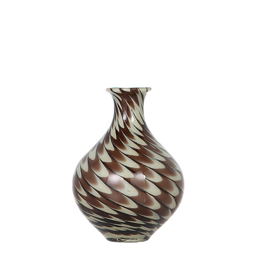 GLASS VASE PAVO S BROWN