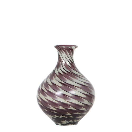 GLASS VASE PAVO S PURPLE