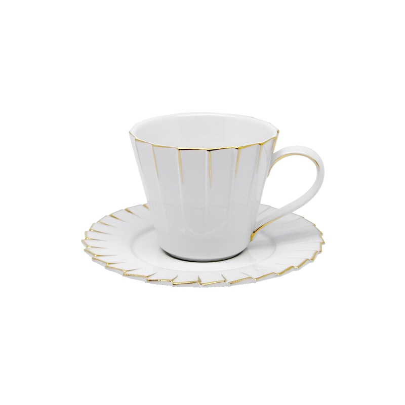 CUP & SAUCER ''PLEATS DECOR'' 200ML