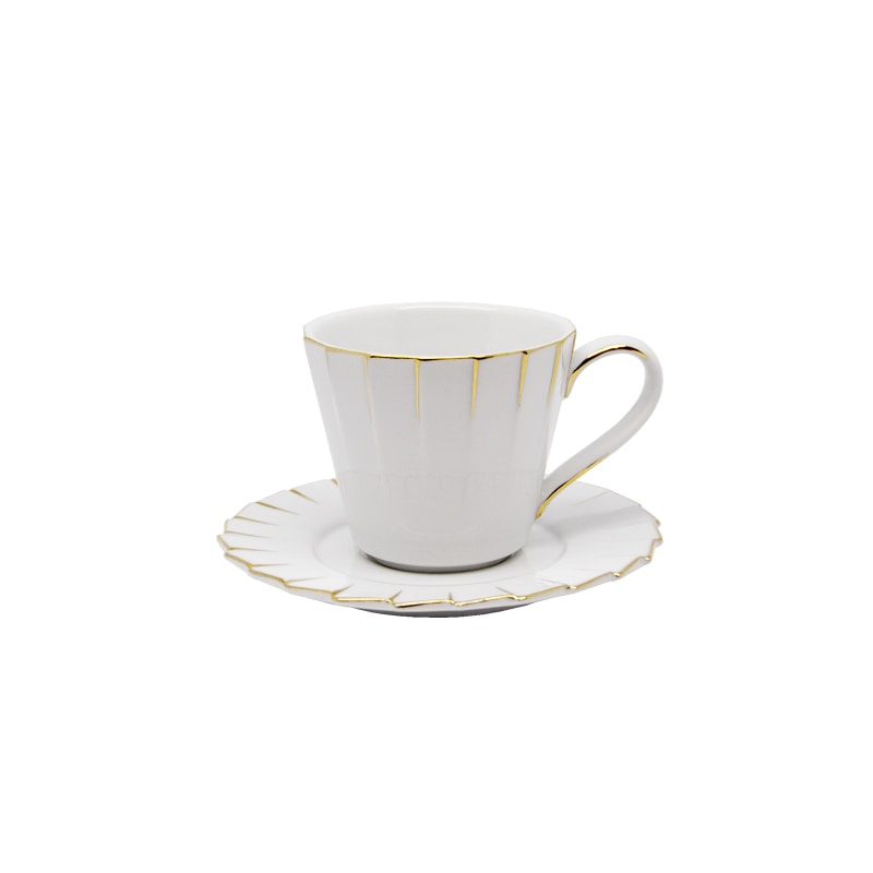 CUP & SAUCER ''PLEATS DECOR'' 90ML