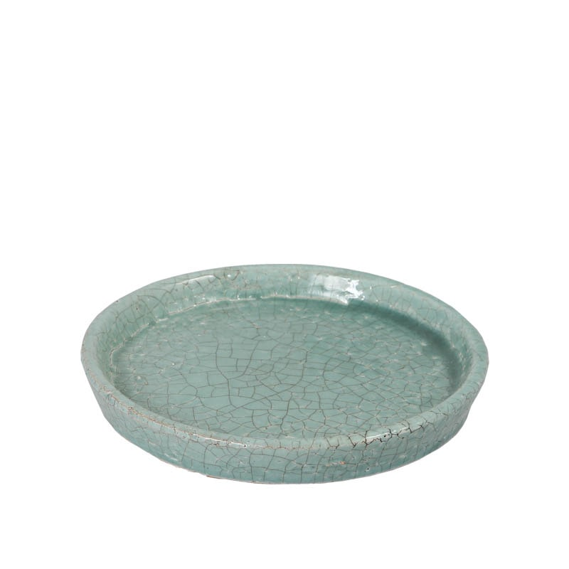 COLOR GLAZED SAUCER C.GRN