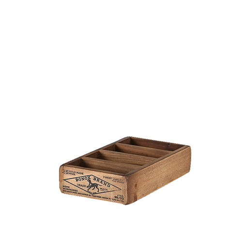 WOODEN BOX FOR BUSINESS CARDS  NATURAL