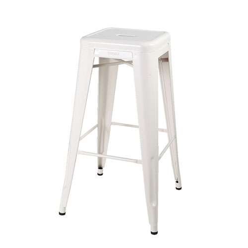 FOOT STOOL (L) OFF WHITE