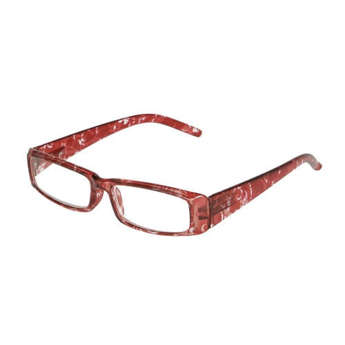 READING GLASSES RED PATTERN
