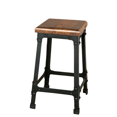 IRON STOOL ANTIQUE BLACK