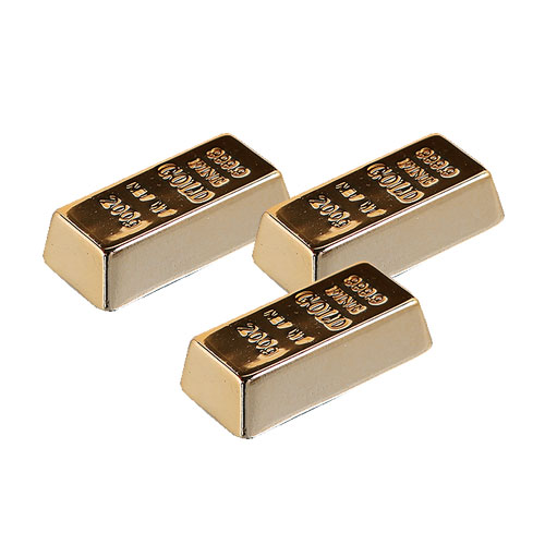 GOLD INGOT MAGNET SET OF 3