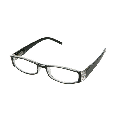 READING GLASSES  BK/CLEAR