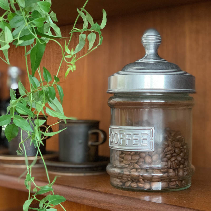 GLASS CANISTER COFFEE