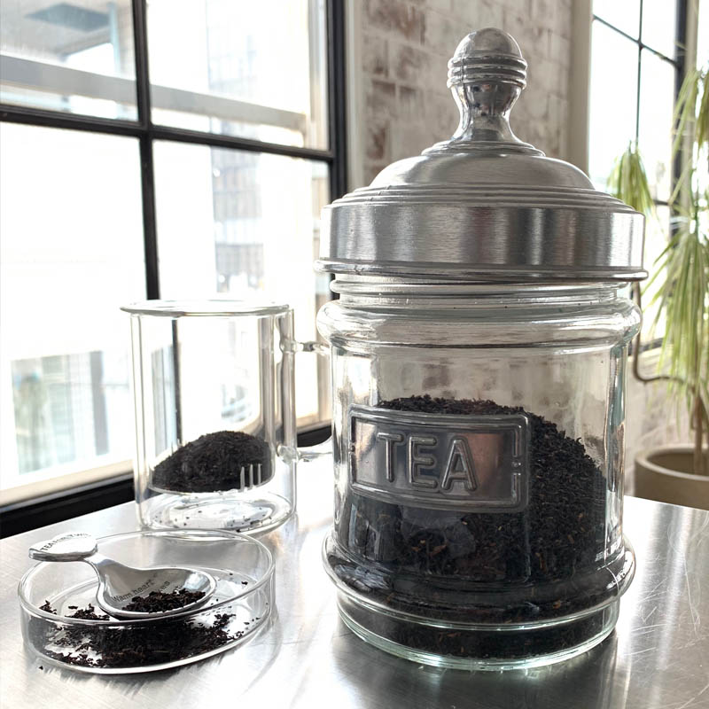 GLASS CANISTER TEA