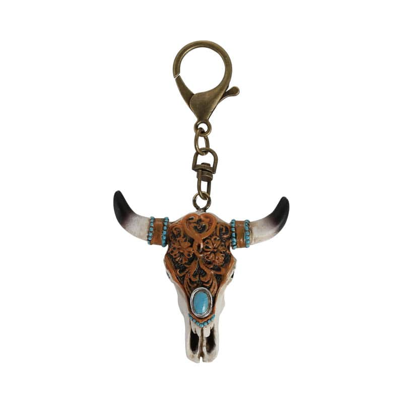 OX SKULL KEY CHAIN B