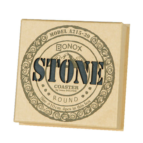 STONE COASTER ''ROUND'' 4pcs/set