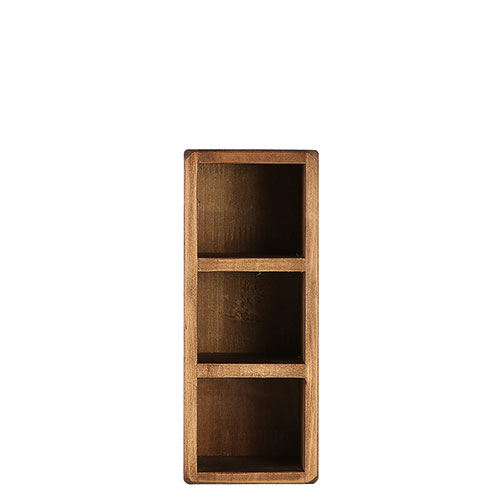 3 PARTITION WOODEN BOX