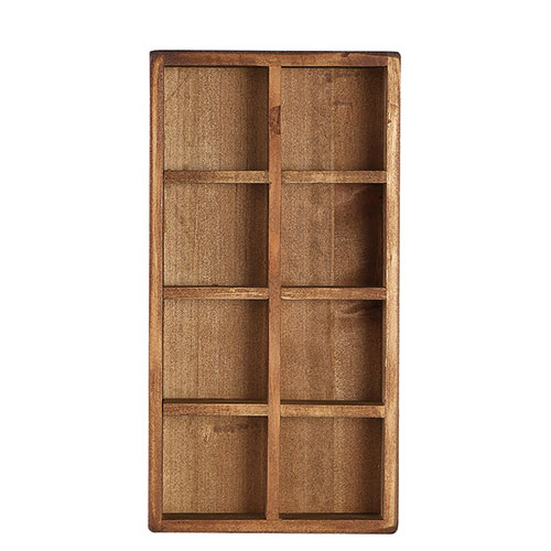 8 PARTITION WOODEN BOX