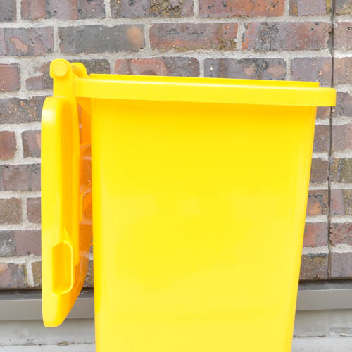 PLASTIC TRASH CAN 65L YELLOW