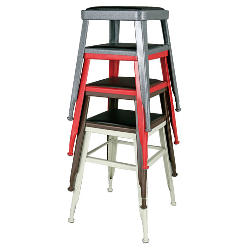 LIGHT-45 STOOL  RED