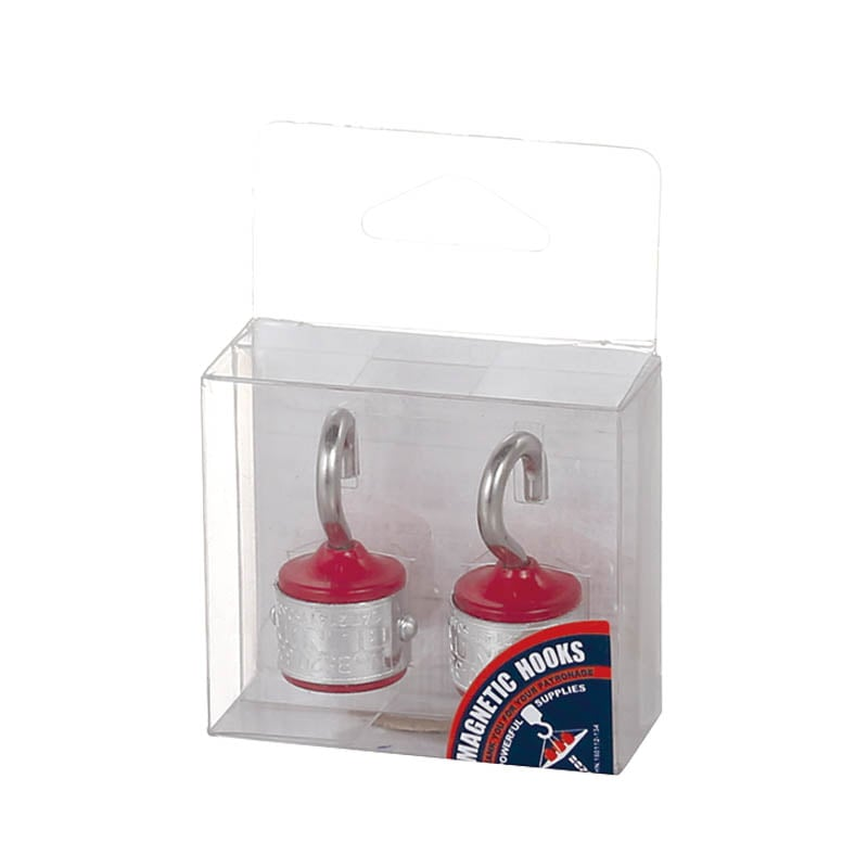 MAGNETIC HOOK SET OF 2 RED