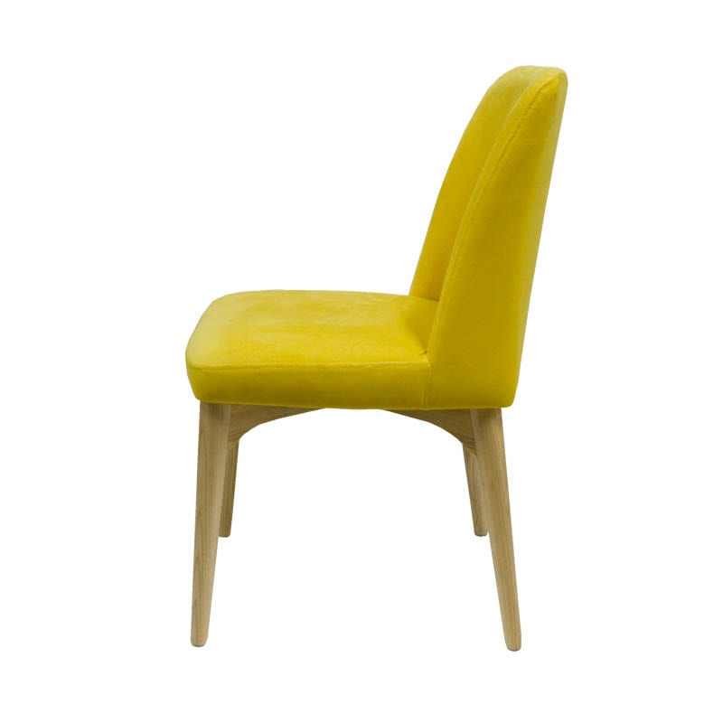 VELVET CHAIR YELLOW