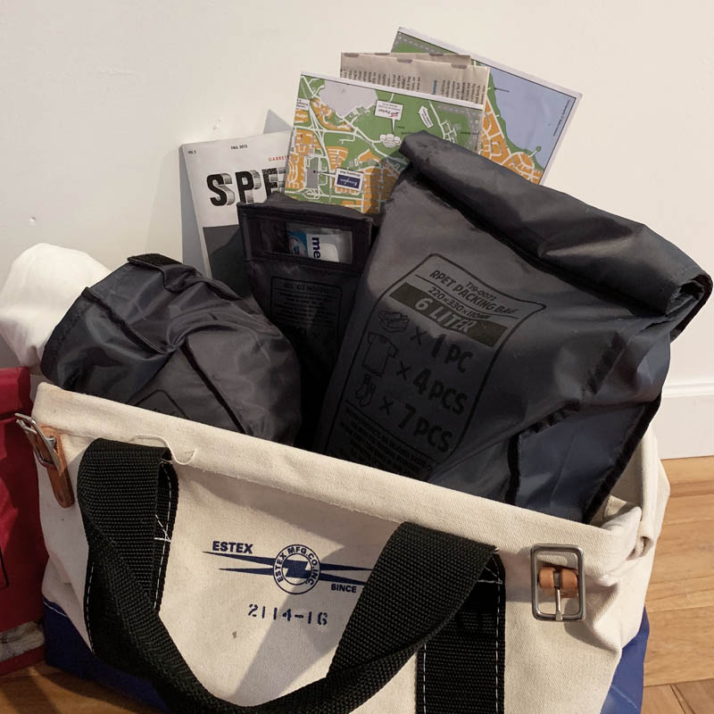 RPET PACKING BAG S GRAY