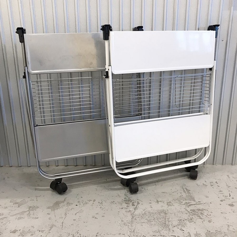 FOLDING TROLLEY WHITE