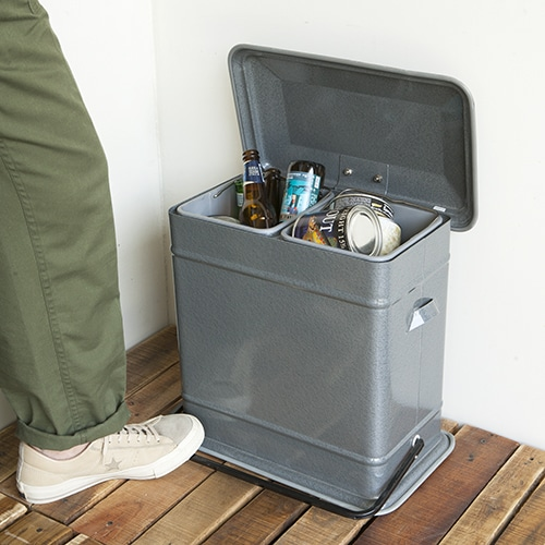 STEP CAN DUAL BUCKET GRAY