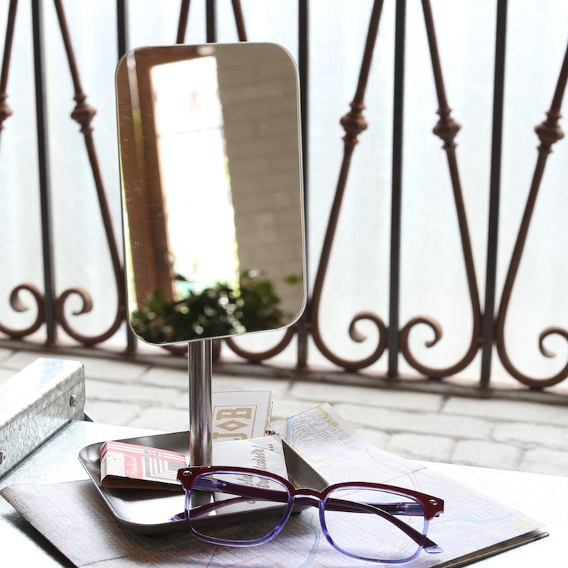 RECTANGLE MIRROR WITH TRAY