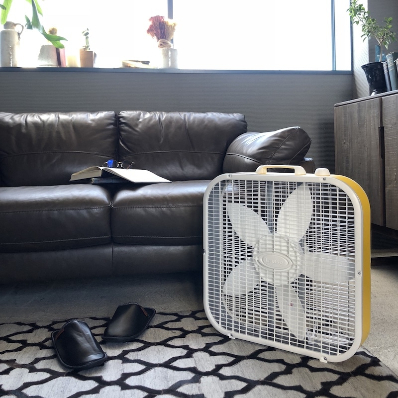 LASKO BOX FAN YELLOW