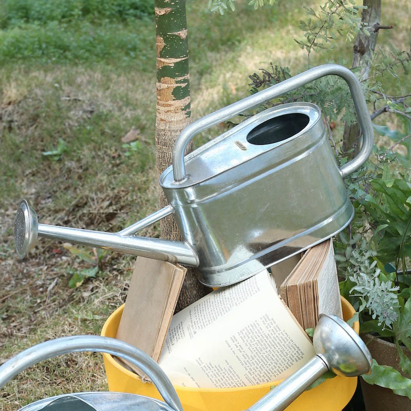 GALVANIZED WATERING CAN 3L