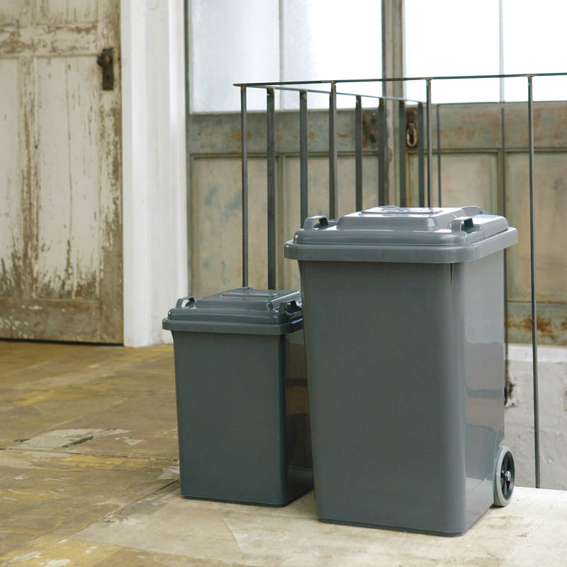 PLASTIC TRASH CAN 45L GRAY
