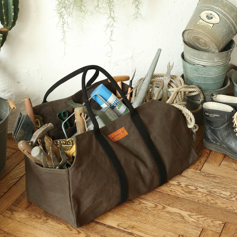 WAX CANVAS LOG BAG OLIVE