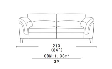 LEATHER SOFA 3 SEATER